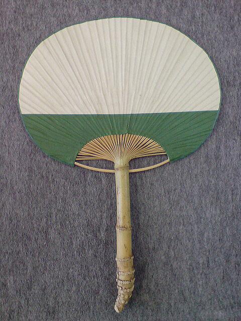 房州団扇/大型 根付け/緑