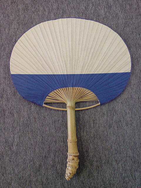 房州団扇/大型 根付け/青