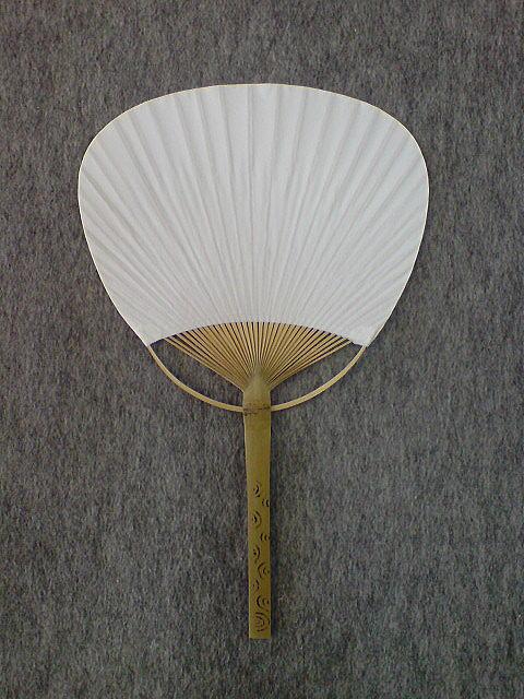 白団扇/平柄(竹)